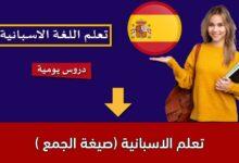 تعلم الاسبانية (صيغة الجمع )