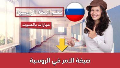صيغة الامر في الروسية