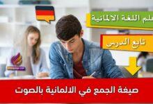 صيغة الجمع في الالمانية بالصوت