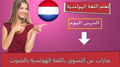 عبارات عن التسوق باللغة الهولندية بالصوت