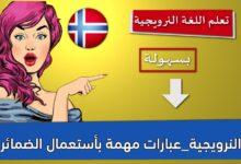 النرويجية_عبارات مهمة بأستعمال الضمائر